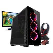 Kit pc gamer neologic mine box nli81019 i3-8100 8gb (geforce gtx 1050ti) 1tb + monitor 21,5 -