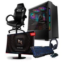 KIT - PC Gamer Neologic NL82237 AMD Ryzen 5 3500 16GB (RX 550 4GB) SSD 240GB + Monitor 21,5 + Cadeira Gamer -
