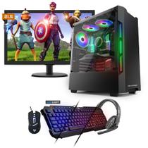Kit PC Gamer Neologic NLI81537 Ryzen 5 2400G 8GB (RX 570 4GB) SSD 240GB + Monitor 21,5 -