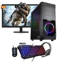 Kit PC Gamer Neologic NLI81539 Ryzen 5 2400G 8GB (RX 570 4GB) 1TB + Monitor 21,5 -