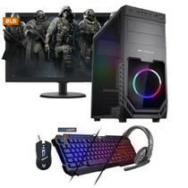 Kit PC Gamer Neologic NLI81540 Ryzen 5 2400G 8GB (RX 570 4GB) SSD 240GB + Monitor 21,5 -
