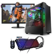 Kit PC Gamer Neologic NLI81544 Ryzen 3 2200G 8GB (RX 570 4GB) SSD 480GB + Monitor 19,5 -