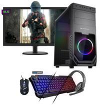 Kit PC Gamer Neologic NLI81550 Ryzen 5 2400G 8GB (RX 570 4GB) SSD 480GB + Monitor 19,5 -