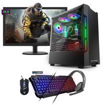 Kit PC Gamer Neologic NLI81551 Ryzen 5 2400G 8GB (RX 570 4GB) 1TB + Monitor 19,5 -