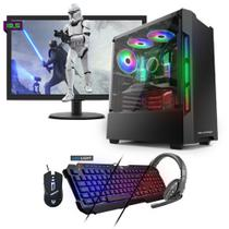 Kit PC Gamer Neologic NLI81552 Ryzen 5 2400G 8GB (RX 570 4GB) SSD 240GB + Monitor 19,5 -