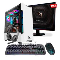 KIT - Pc Gamer Neologic NLI82110 Ryzen 3 2200G 8GB (Radeon Vega 8 Integrado) SSD 240GB + Monitor 21,5 -