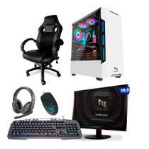 KIT - Pc Gamer Neologic NLI82111 Ryzen 3 2200G 8GB (Radeon Vega 8 Integrado) SSD 240GB + Cadeira Gamer -