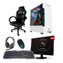 KIT - Pc Gamer Neologic NLI82112 Ryzen 3 2200G 8GB (Radeon Vega 8 Integrado) SSD 240GB + Cadeira Gamer -
