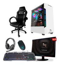 KIT - Pc Gamer Neologic NLI82112 Ryzen 3 2200G 8GB (Radeon Vega 8 Integrado) SSD 240GB + Cadeira Gamer -