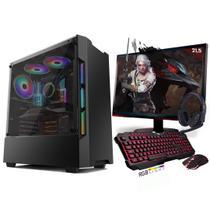 Kit PC Gamer Neologic Start NLI81420 Ryzen 5 2400G 8GB (Radeon RX Vega 11 Integrado) SSD 240GB + Monitor 21,5 -