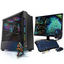 Kit PC Gamer Neologic Start NLI81421 Ryzen 5 2400G 8GB (Radeon RX Vega 11 Integrado) SSD 480GB + Monitor 21,5 -