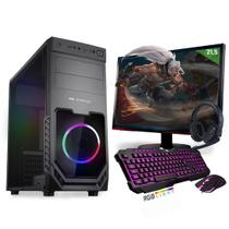 Kit PC Gamer Neologic Start NLI81422 Ryzen 5 2400G 8GB (Radeon RX Vega 11 Integrado) 1TB + Monitor 21,5 -