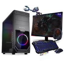 Kit PC Gamer Neologic Start NLI81423 Ryzen 5 2400G 8GB (Radeon RX Vega 11 Integrado) SSD 240GB + Monitor 21,5 -