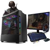 Kit PC Gamer Neologic Start NLI81425 Ryzen 3 2200G 8GB ( Radeon Vega 8 Integrado)1TB + Monitor 19,5 -
