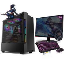 Kit PC Gamer Neologic Start NLI81427 Ryzen 3 2200G 8GB ( Radeon Vega 8 Integrado) SSD 480GB + Monitor 19,5 -