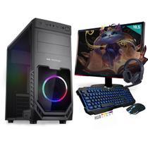 Kit PC Gamer Neologic Start NLI81430 Ryzen 3 2200G 8GB ( Radeon Vega 8 Integrado) SSD 480GB + Monitor 19,5 -