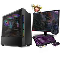 Kit PC Gamer Neologic Start NLI81431 Ryzen 5 2400G 8GB (Radeon RX Vega 11 Integrado) 1TB + Monitor 19,5 -