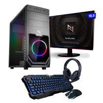 Kit - PC Gamer Smart NLI82549 AMD A6-7480 8GB (Radeon R5 Integrado) SSD 240GB 400W 80 Plus + Monitor 19,5 - NEOLOGIC