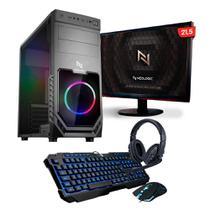 Kit - PC Gamer Smart NLI82550 AMD A6-7480 8GB (Radeon R5 Integrado) SSD 240GB 400W 80 Plus + Monitor 21,5 - NEOLOGIC
