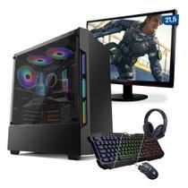 """Kit PC Gamer Smart PC SMT80507 Intel Core i5 8GB (GTX 1050Ti 4GB)1TB + Monitor 21,5"""" -"""