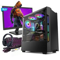 Kit PC Gamer Smart SMT81462 Intel i5 8GB (GeForce GTX 1650 4GB) SSD 240GB + Monitor 19,5 - Neologic