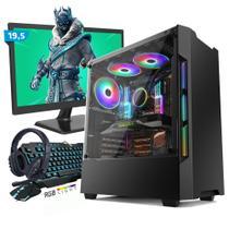 Kit PC Gamer Smart SMT81463 Intel i5 8GB (GeForce GTX 1650 4GB) SSD 480GB + Monitor 19,5 - Neologic