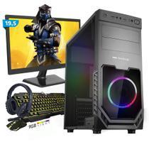 Kit PC Gamer Smart SMT81465 Intel i5 8GB (GeForce GTX 1650 4GB) SSD 240GB + Monitor 19,5 - Neologic