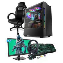 Kit PC Gamer Smart SMT81469 Intel i5 8GB (GeForce GTX 1650 4GB) SSD 480GB + Monitor 19,5 + Cadeira Gamer - Neologic