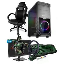 Kit PC Gamer Smart SMT81470 Intel i5 8GB (GeForce GTX 1650 4GB) 1TB + Monitor 19,5 + Cadeira Gamer - Neologic