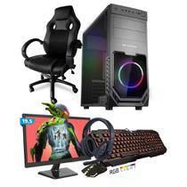 Kit PC Gamer Smart SMT81472 Intel i5 8GB (GeForce GTX 1650 4GB) SSD 480GB + Monitor 19,5 + Cadeira Gamer - Neologic