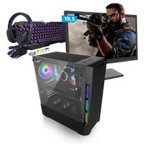 Kit PC Gamer Smart SMT81486 Intel i5 8GB (RX 580 8GB) SSD 240GB + Monitor 19,5 - Neologic