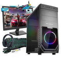 Kit PC Gamer Smart SMT81489 Intel i5 8GB (RX 580 8GB) SSD 240GB + Monitor 19,5 - Neologic