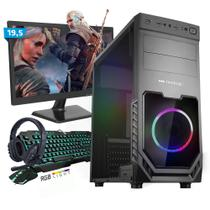 Kit PC Gamer Smart SMT81490 Intel i5 8GB (RX 580 8GB) SSD 480GB + Monitor 19,5 - Neologic