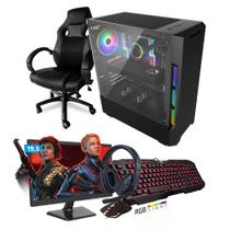 Kit PC Gamer Smart SMT81491 Intel i5 8GB (RX 580 8GB) 1TB + Monitor 19,5 + Cadeira Gamer - Neologic