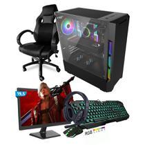 Kit PC Gamer Smart SMT81492 Intel i5 8GB (RX 580 8GB) SSD 240GB + Monitor 19,5 + Cadeira Gamer - Neologic