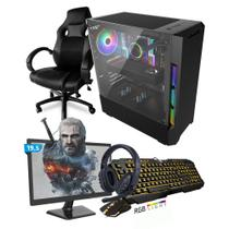 Kit PC Gamer Smart SMT81493 Intel i5 8GB (RX 580 8GB) SSD 480GB + Monitor 19,5 + Cadeira Gamer - Neologic