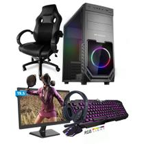 Kit PC Gamer Smart SMT81495 Intel i5 8GB (RX 580 8GB) SSD 240GB + Monitor 19,5 + Cadeira Gamer - Neologic