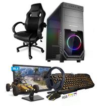 Kit PC Gamer Smart SMT81496 Intel i5 8GB (RX 580 8GB) SSD 480GB + Monitor 19,5 + Cadeira Gamer - Neologic