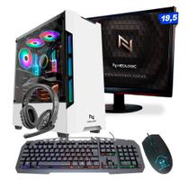 KIT - Pc Gamer Smat PC SMT82119 Intel i5 8GB (RX 550 4GB) SSD 240GB + Monitor 19,5 - Smart Pc