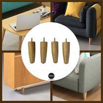 kit pe para sofa  12 cm de altura madeira eucalipto sp - Rodrim