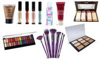 Kit Pele e olhos: Base Tracta + Corretivos coloridos + Pincéis Violet + Pós faciais + Acessórios -