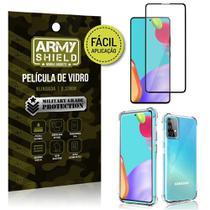 Kit Película 3D Fácil Aplicação Galaxy A52 Película 3D + Capa Anti Impacto - Armyshield -