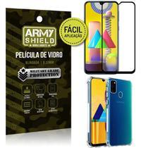 Kit Película 3D Fácil Aplicação Galaxy M31 Película 3D + Capa Anti Impacto - Armyshield -