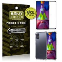 Kit Película 3D Fácil Aplicação Galaxy M51 Película 3D + Capa Anti Impacto - Armyshield -