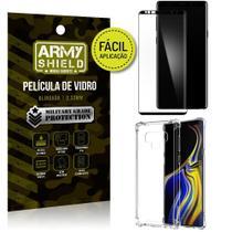 Kit Película 3D Fácil Aplicação Samsung Galaxy Note 9 Película 3D + Capa Anti Impacto - Armyshield -