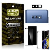 Kit Película de Câmera Galaxy Note 9 + Película 3D + Capa Anti Impacto - Armyshield -