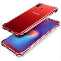 Kit Película de gel 5D Samsung Galaxy A20 + Capa Anti Impacto Transparente - Yellow Lens