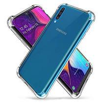 Kit Película de gel 5D Samsung Galaxy A50 + Capa Capinha Anti Impacto Transparente - Yellow Lens
