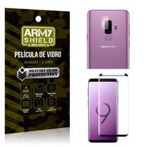 Kit Película de Lente Câmera Anti Risco + Película de Vidro Samsung Galaxy S9 Plus - Armyshield -