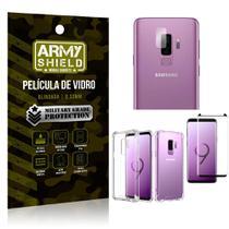 Kit Película de Lente + Película de Vidro + Capa Silicone Samsung Galaxy S9 Plus - Armyshield -